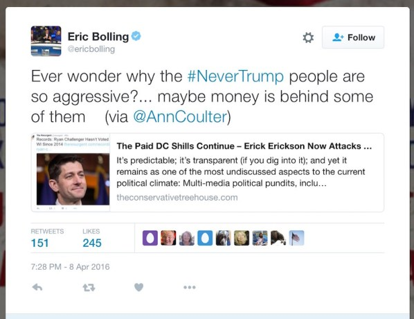 eric bolling conspiracy