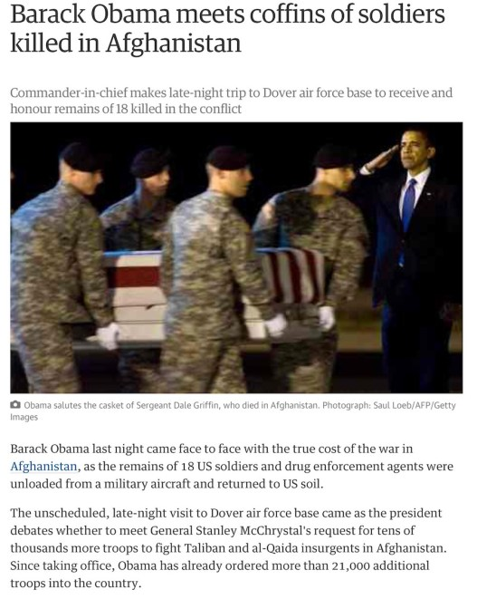 obama salutes dover air force base
