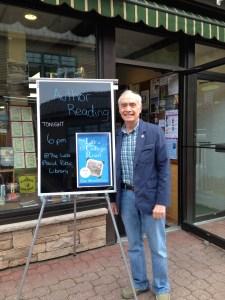 SOOP Author Eric Mondschein Smiles with His Signage
