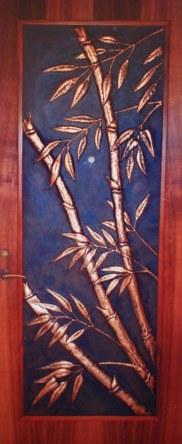 Copper Bamboo Door