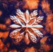 Copper Hawai'ian Quilt Wall Art by Sooriya Kumar