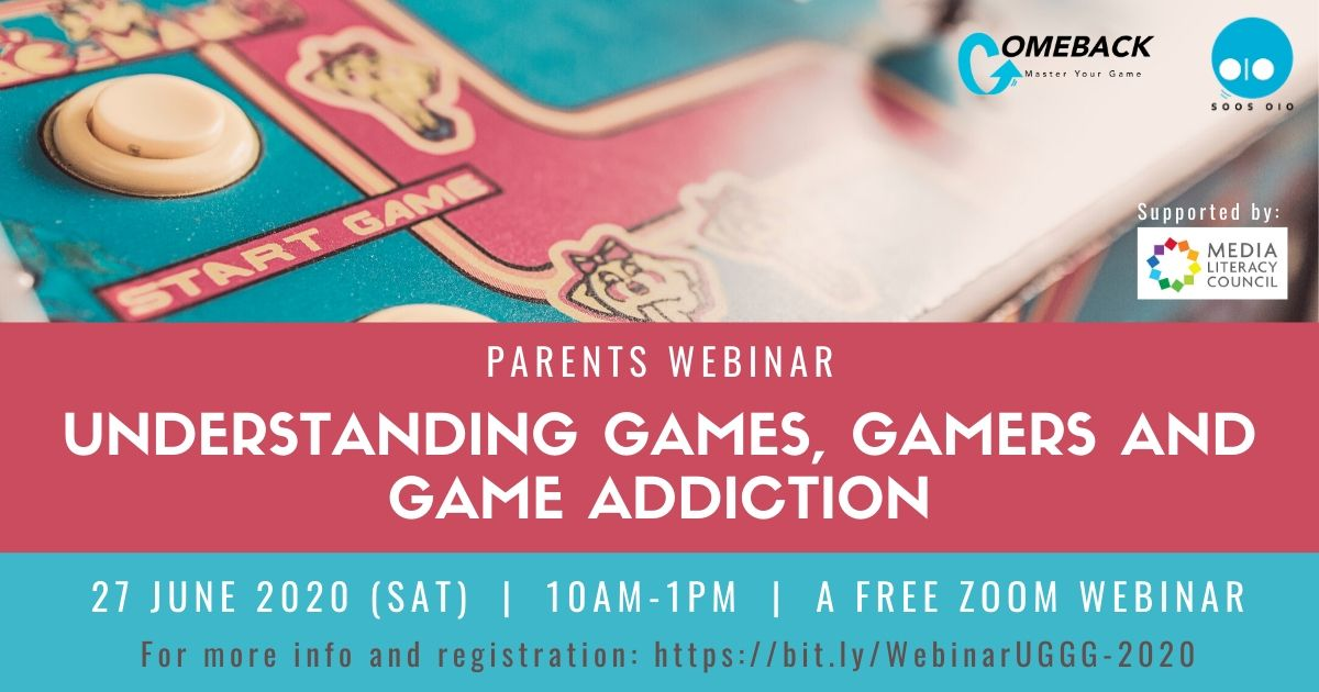 Parents Webinar: Understanding Games, Gamers and Game Addiction