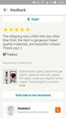 5stars review on Etsy by Tamyka from Australia