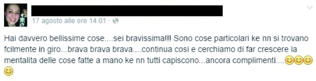 Message on facebook by Gabriella