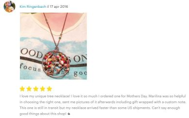 5stars review by Kim from AmericA