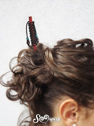 spillone capelli rosso macramè4