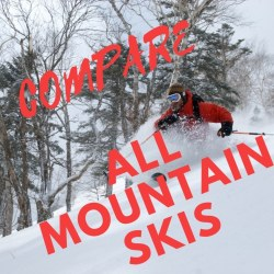 Compare all mountain skis 85 to 90 mm range 2018