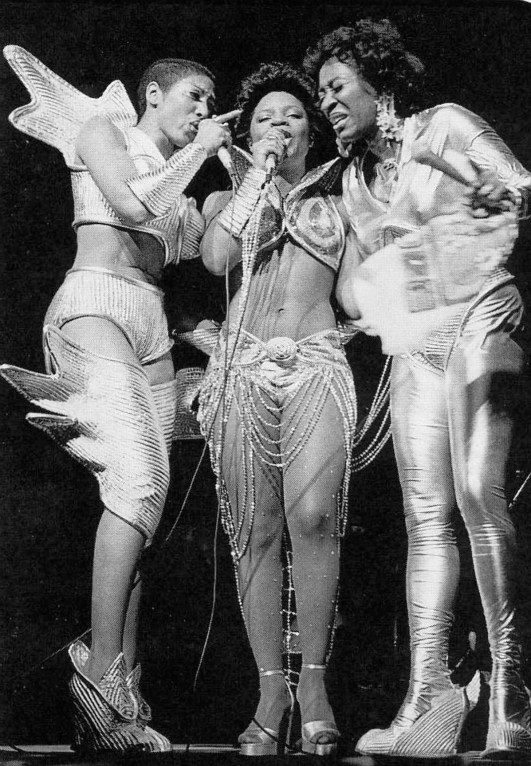 Before there was Labelle - the '70s glam/R&B trio of Patti LaBelle, right, Nona Hendryx, left, and Sarah Dash, who have just reunited with Back to Now, their first album in 32 years - there was Patti & the Bluebelles as shown dressed for a show in the 1970's. Philadelphia Inquirer/MCT /Landov