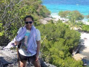 On top of the island - trekking