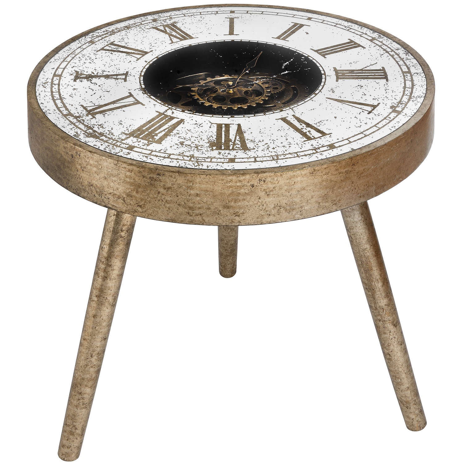 ticking table table clock in gold sopha