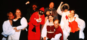 Sophie's first Commedia dell' Arte troupe, i Scandali circa 2003