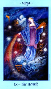 The Hermit, Celestial Tarot by Kay Steventon