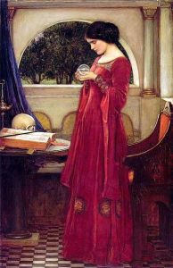 The 'Seeing Mirror' in John William Waterhouse's The Crystal Ball (1902)