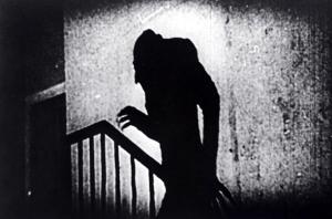 A still from the classic film Nosferatu (1922)