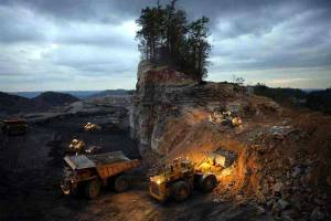 As within, so without -- inner attitudes, beliefs, and state-of-being are projected outward into action and behavior. Image: Mountain-top removal, an actual devastating mining practice. Photo from NRDC