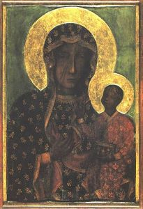Lady of Częstochowa, another well-known Black Madonna located at the Jasna Góra Monastery in Częstochowa, Poland. Read the 'Rilke & the Black Madonna' post to learn more of her significance.