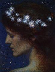 Stella Dei Cieli (c. 1880-1885), by Edward Robert Hughes. Image via WikiCommons.