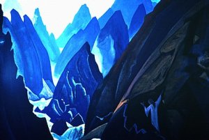 In 'The Path', by Nicholas Roerich (1874-1947), the artist depicted his own arduous journey through the Himalayas, and also symbolized the 'Narrow Path' taken by true spiritual journeyers.