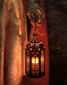 The Light of the World (detail), by William Holman Hunt, c1900-1904. (Image courtesy of WikiCommons)