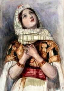 A Young Lady in Turkish Dress, by John Frederick Lewis (1804-1876)