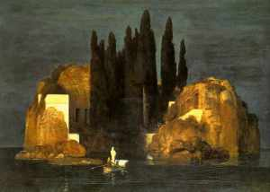 Isle of the Dead, 1880, by Arnold Böcklin. Image courtesy of Wiki-Commons.