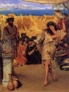 A Bacchante Dancing at Harvest Time, 1880, by Sir Lawrence Alma-Tadema.