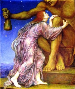 The Worship of Mammon, 1909, by Evelyn Pickering De Morgan.