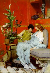 Confidences, 1869, by Sir Lawrence Alma-Tadema.