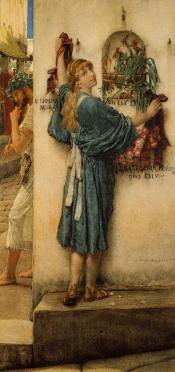 A Street Altar, 1883, by Sir Lawrence Alta-Tadema.