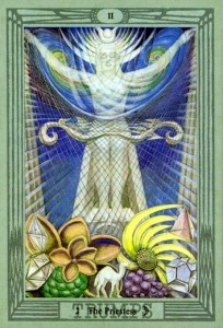 The Priestess, by Lady Frieda Harris for the Crowley-Thoth Tarot.