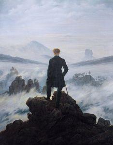 Wanderer Above the Sea of Fog, 1818, by Caspar David Friedrich. Public domain image courtesy of Wikimedia.