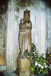 The Dark Madonna at Salisbury Cathedral, Salsbury, Wiltshire, U.K. Photo from my visit in 2007.