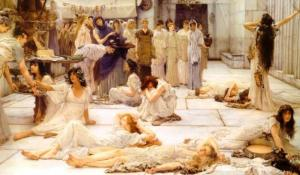 The Women of Amphissa, 1887, by Sir Lawrence Alma-Tadema. Public domain image courtesy of Wikimedia.