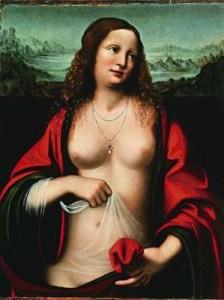 Mary of Magdala, by Leonardo da Vinci. Public domain image courtesy of Wikipedia.