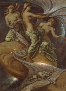 The Fates Gathering the Stars, 1885, by Elihu Vedder. Public domain image {US-PD}