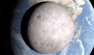 Dark Side of the Moon as Bella Luna Passes In Front of Earth. Photo by NASA.