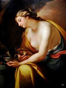 Hebe Giving a Drink to Jupiter, 1767, by Gavin Hamilton. Public domain image (date precedes copyright).