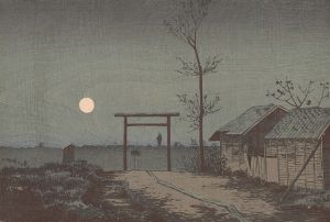 Before Tarō Inari Shrine at the Asakusa Ricefields, 1881, by Kobayashi_Kiyochika. PD-US.