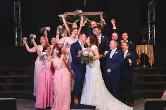 Bride, Bridesmaids, groom, groomsmen