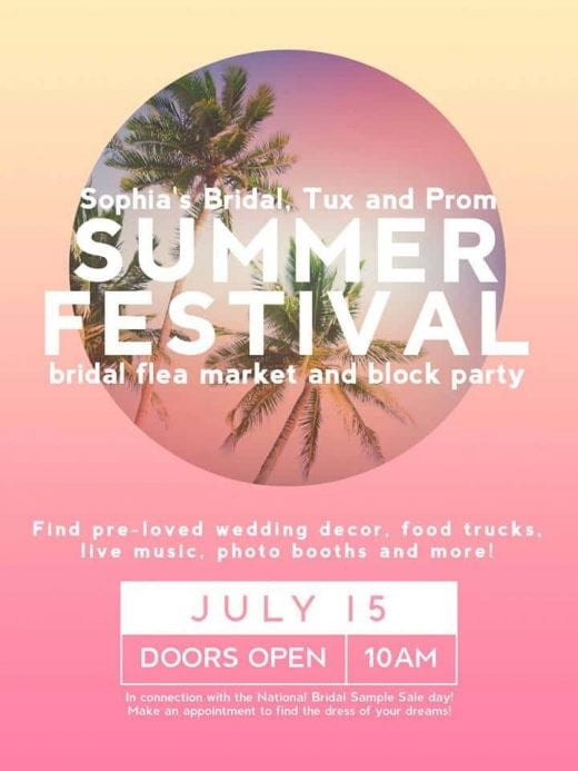 Sophia's Summer Festival and Bridal Flea Market