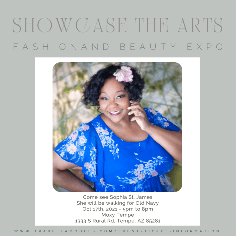 old navy modeling at showcase of the arts fashion and beauty expo