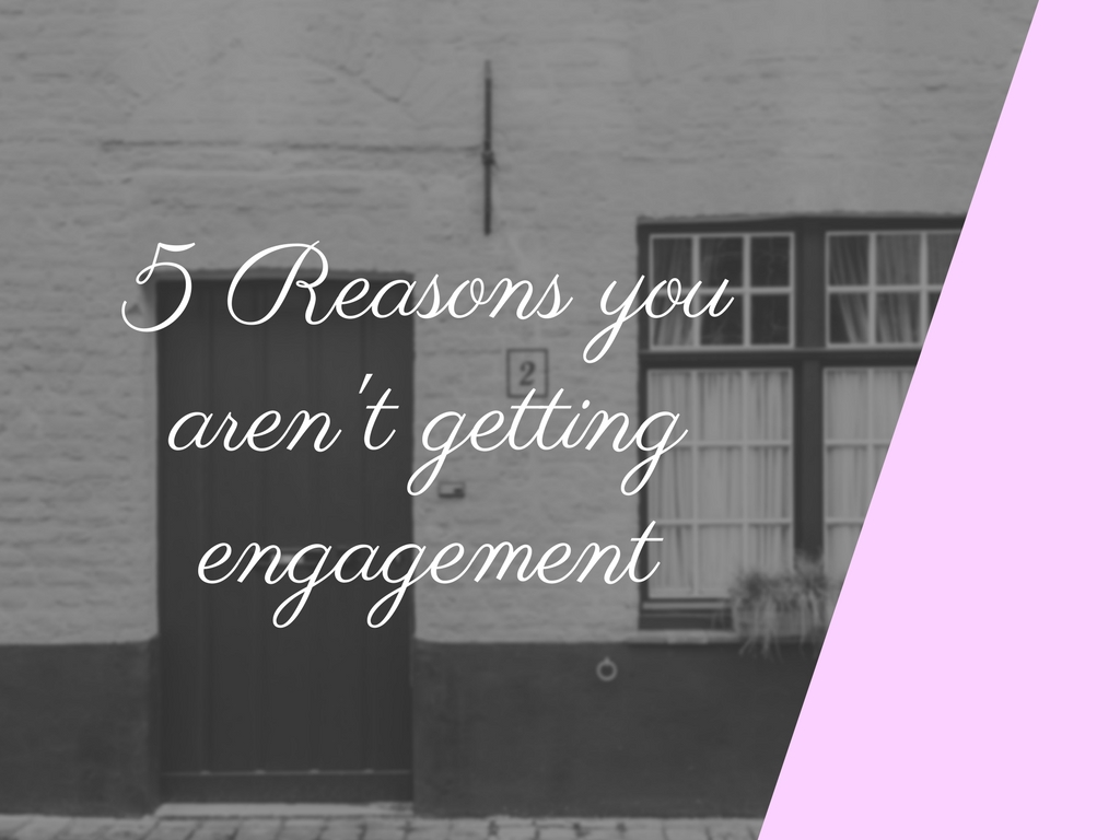 The five reasons you aren't getting blog engagement
