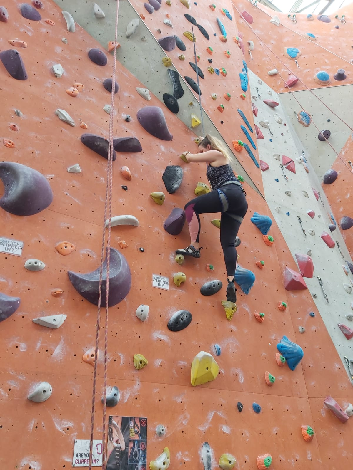 Just let go. Auto-belaying at Reading Climbing Centre