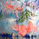 "'Spring # 30' Oil On Canvas 48""X48"" by Sophia Yee"
