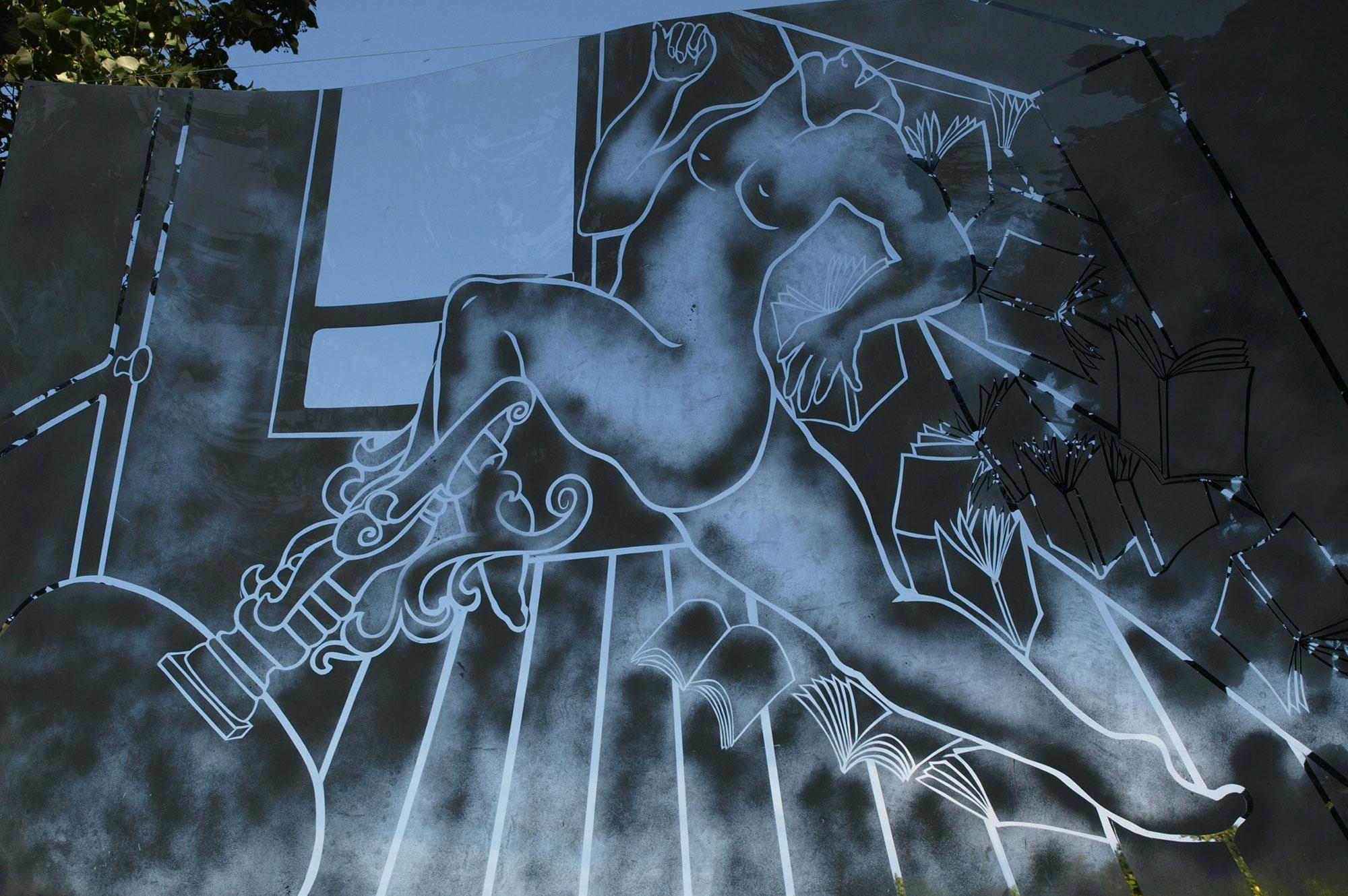 """Série """"L'Homme Moderne"""", parcours artistique à Florac en 2012"""
