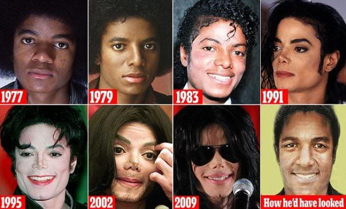 Micheal Jackson before and after