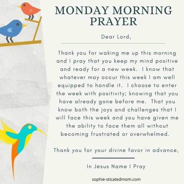 morning prayers monday