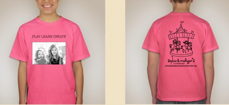clssic pink play learn create t shirt