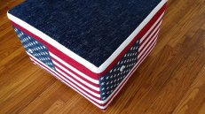 Stars and stripes ottoman