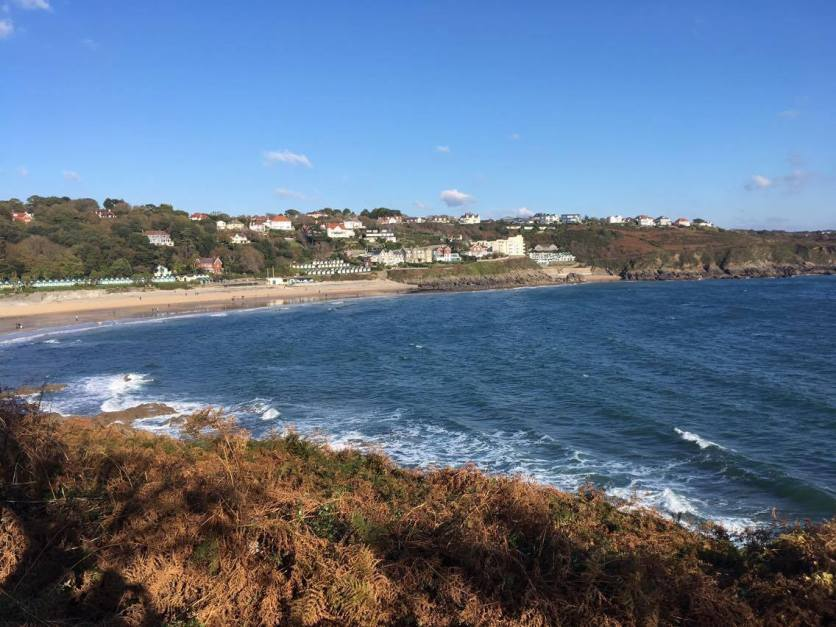Langland and then Rotherslade Bay in the background